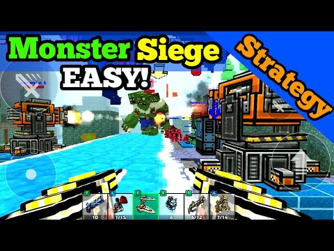 BEST MONSTER SIEGE DEFENSE In Pixel Gun 3D | SOLO Winning Monster Siege In Pixel Gun 3D