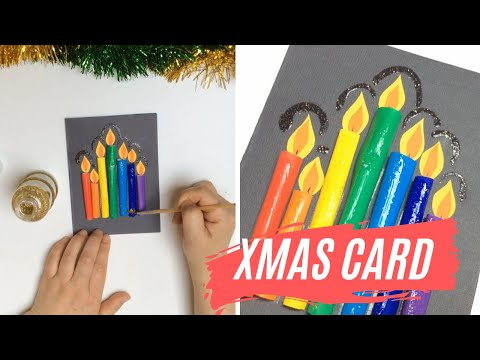 EASY DIY CHRISTMAS CANDLE CARD (Christmas Art and Craft) Part 5