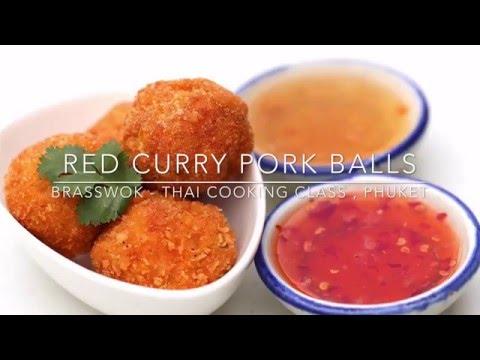 Red Curry Pork Balls