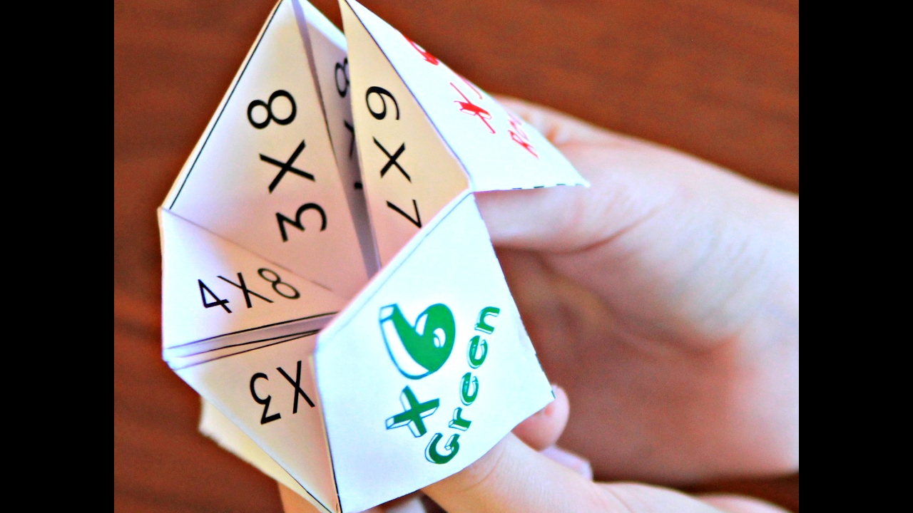 Multiplication Cootie Catchers Fortune Tellers - YouTube