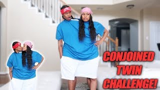 CONJOINED TWIN CHALLENGE!! *HILARIOUS*