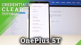 How to Clear Credentials on OnePlus 5T - Remove All Certificates