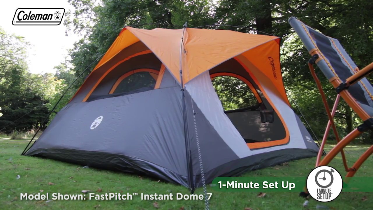 Coleman 174 Fastpitch Instant Dome 5 Person Tent En Youtube