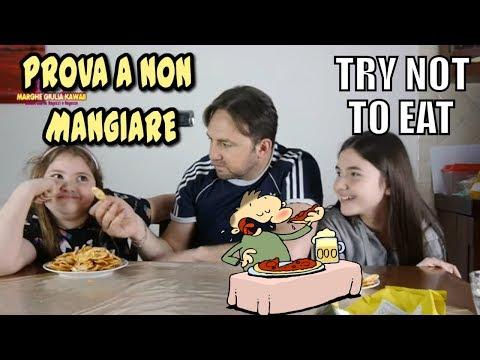 PROVA A NON MANGIARE CHALLENGE ( try not to eat react )   Teen & Kids Vs Food - Marghe Giulia Kawaii