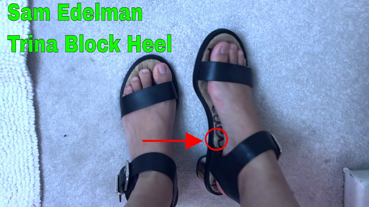 bcd075919b0205 ✅ How To Use Sam Edelman Trina Block Heel Sandal Review - YouTube