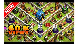 New-TH 12 Legend push base -NEW update- 6k+ trophy with (Proof) Anti Bowler Anti Lavaloon