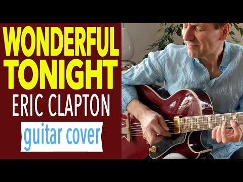 Wonderful Tonight (KARAOKE LYRICS) Unplugged Fingerstyle Guitar Solo Eric Clapton Instrumental Cover