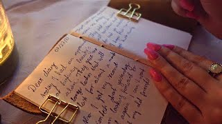 ASMR 'vintage' writing in diary 📔   limited talking
