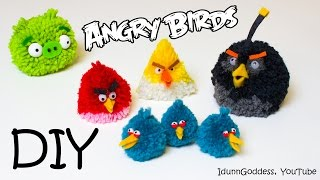 DIY | Angry Birds Toys – How To Make Angry Birds Fluffy Pom-pom Toys ♥ ♥ ♥