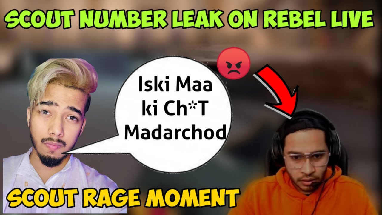 Download | Scout Number Leaked live on 8bit Rebel Livestream | Scout angry and rage moments |