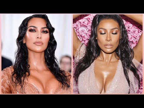 KIM K MET GALA WET LOOK