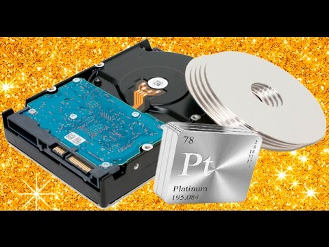 Scrapping Hard Drive For Gold, Palladium and Platinum