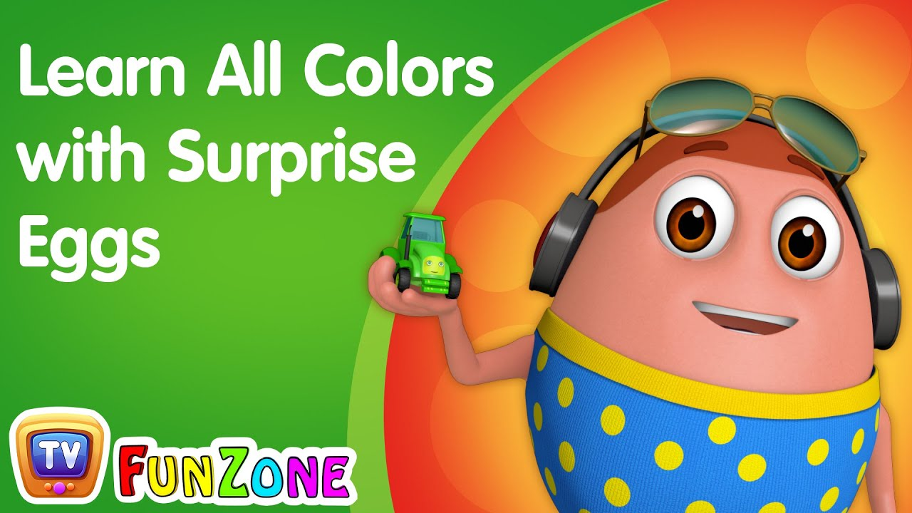 Learn All Colors with Surprise Eggs - ChuChu TV Learning Videos for Kids