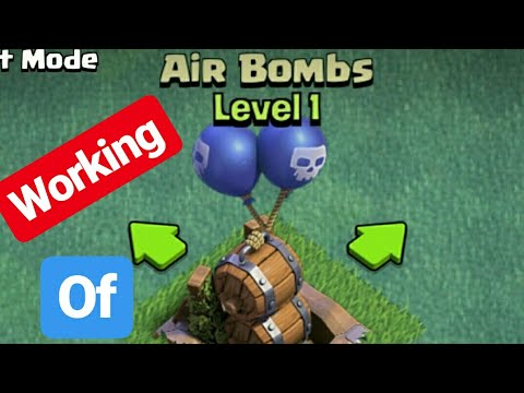 Clash Of Clans / What Is Air Bombs(new air Defence)On Builder Hall ?/ Working Of Air Bombs(video) 👍