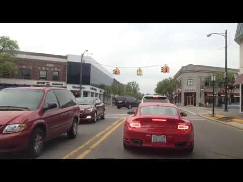 Driving from Clinton Township, Michigan to Bloomfield Hills, Michigan