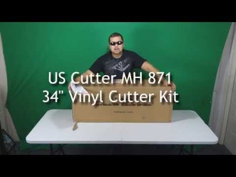 VIDEO 1: How to make a vinyl sticker - Unpacking the US Cutter MH-871 Kit