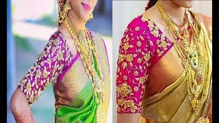 Top 10 Silk Saree Blouse Designs For Party Wear | Blouse Designs For Silk Saree | Maggam Work