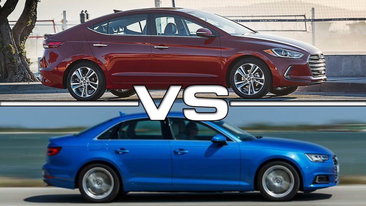 Audi A3 Vs A4 >> Hyundai Elantra vs Audi A4 - YouTube