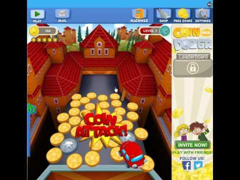 Coin Dozer Social - Facebook Gameplay