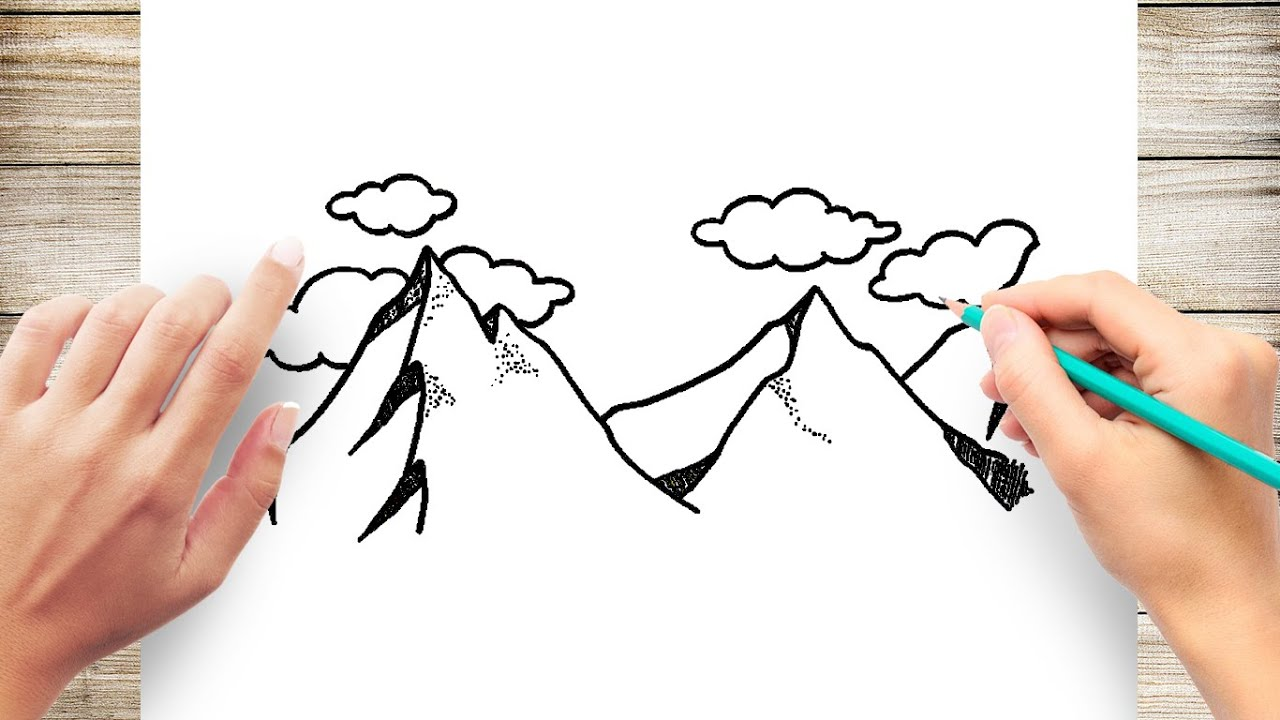 How To Draw Mountains Easy Youtube If you wonder how to draw such beautiful drawings of a mountain, open the drawing you like and we have hand picked some video tutorials which can help you to learn how to draw a mountain! how to draw mountains easy