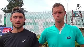 Filip Polášek a Patrik Rikl po vítězství ve finále deblu Rieter Open Ústí nad Orlicí 2018