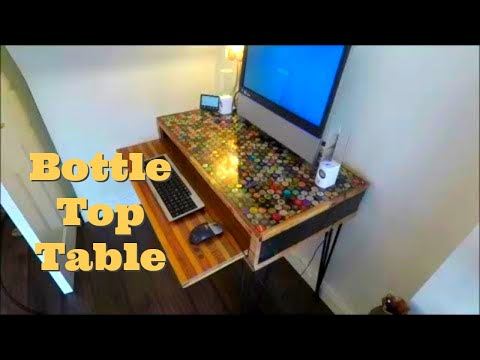 Making A Beer Bottle Top Computer Table