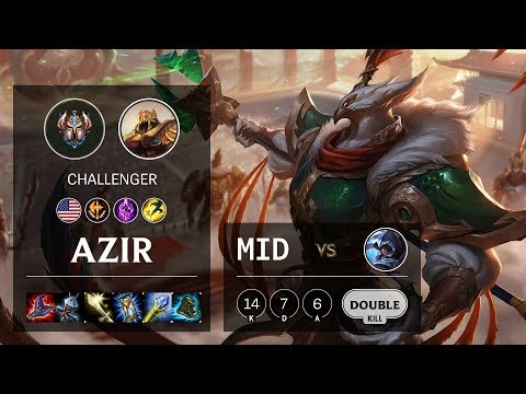 Azir Mid vs Talon - NA Challenger Patch 10.7