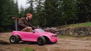 First Test Drive in the 70MPH Barbie Car #4