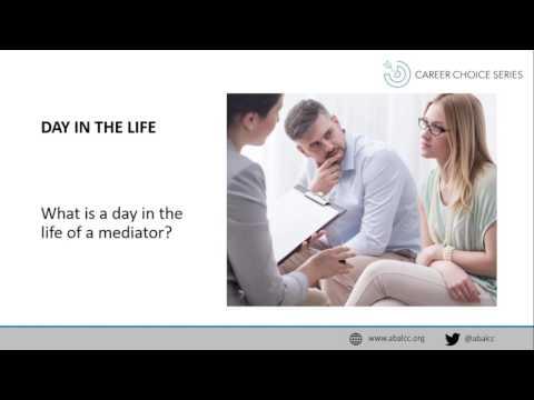 Career Choice Series: Mediation
