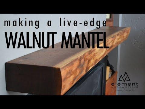 Live-Edge Walnut Mantel Build    Mountain Modern    Element Woodworking
