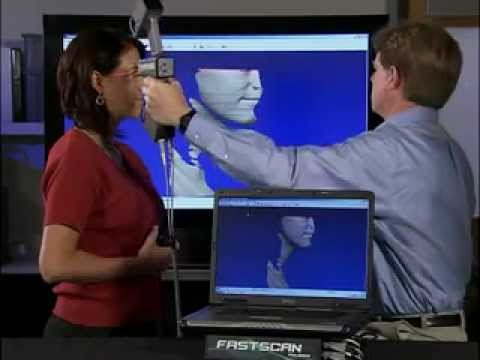 Polhemus FastSCAN Hand-Held 3D Laser Scanner - YouTube.flv ...