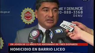 Investigan el homicidio de un joven en Parque Liceo