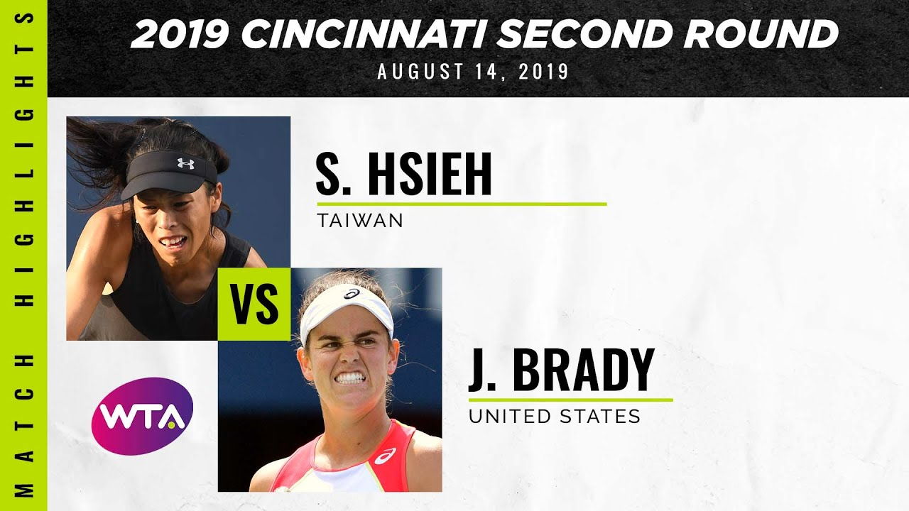 Hsieh Su-Wei vs. Jennifer Brady | 2019 Western & Southern Open Second Round | WTA Highlights