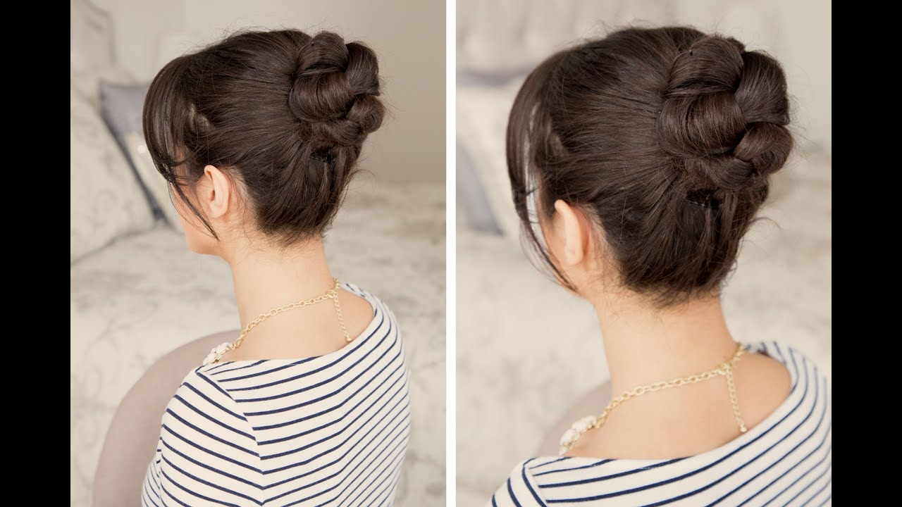 how to: braided bun hair tutorial - youtube
