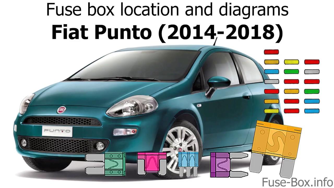 fuse box location and diagrams fiat punto 2014 2018  [ 1280 x 720 Pixel ]