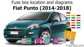 fuse box location and diagrams: fiat punto (2014-2018) - youtube  youtube
