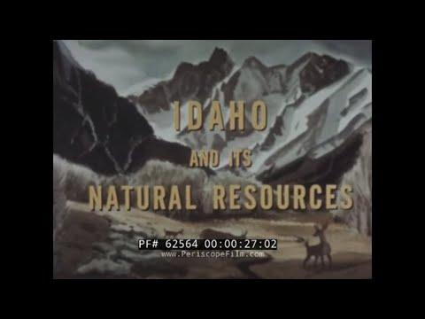 1950s IDAHO NATURAL RESOURCES, MINING & POTATOES DOCUMENTARY FILM  BOISE   62564