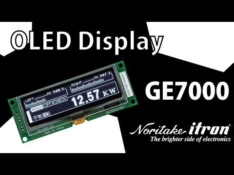 Noritake OLED Display Module: GE256X64B-7032B