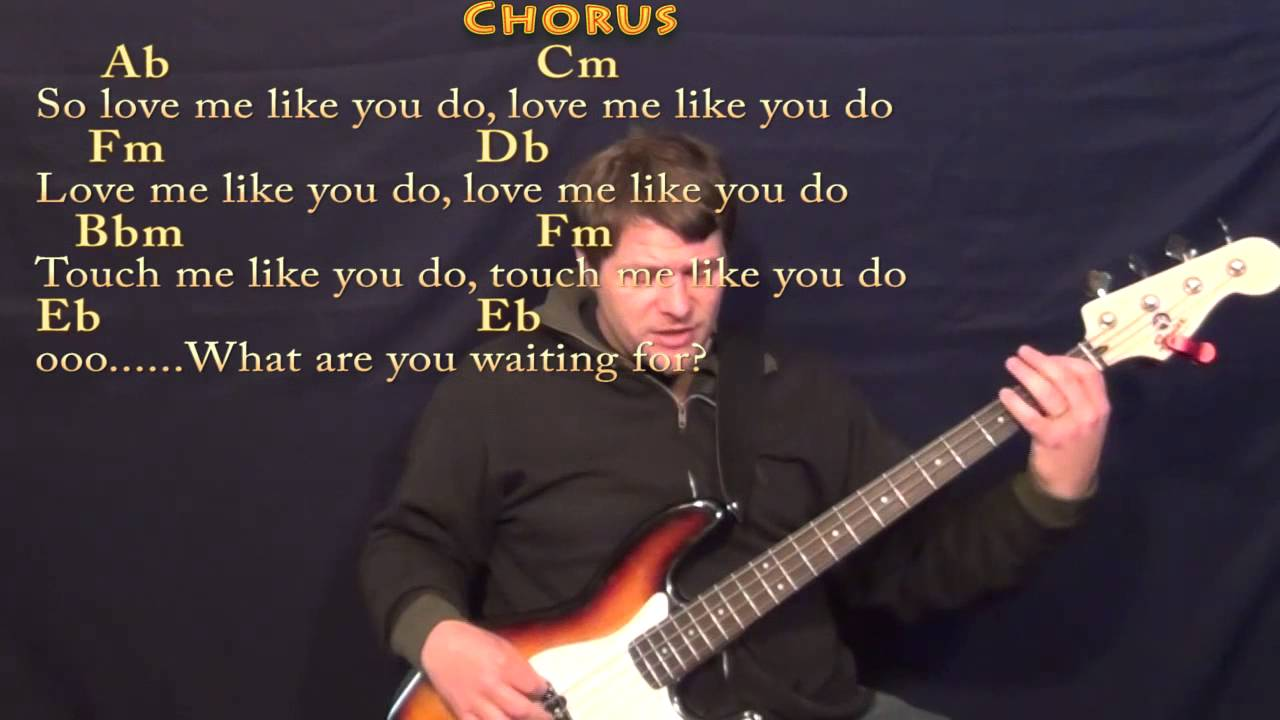 Love Me Like You Do - Bass Guitar Cover Lesson in Ab with Chords/Lyrics - YouTube