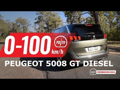 2018 Peugeot 5008 GT Diesel 0-100km/h & Engine Sound