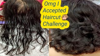 I Accepted Haircut challenge on Very Thin HairsЁЯТЗтАНтЩАя╕П ЁЯЩК!! Wow, See the results After haircut.