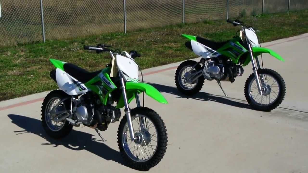 2012 Kawasaki KLX110 and KLX110L Side By Side Comparison