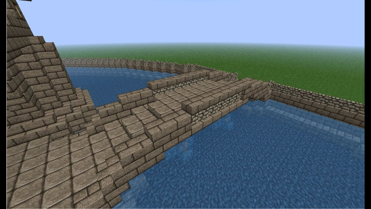 Free Blueprints Minecraft Mini Tutorial Medieval River Bridge How To