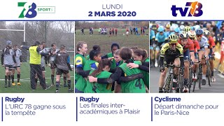 7/8 Sports. Emission du lundi 2 mars 2020