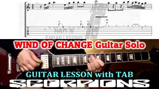 Wind Of Change SOLO (Scorpions) GUITAR LESSON with TAB