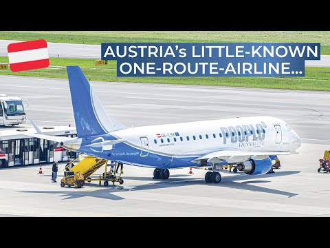 TRIPREPORT (WORLD'S SMALLEST AIRLINE!) | People's ViennaLine | Vienna - Altenrhein | Embraer 170