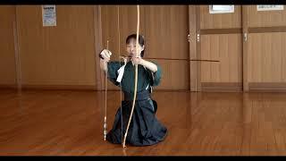 Japanese archery Kyudo for beginner. How to look cool. Let's do the Yastugae carefully.