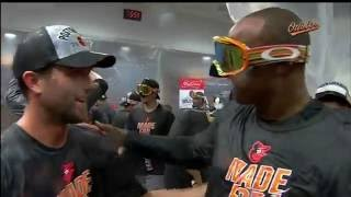 The Orioles celebrate 2016 playoff berth