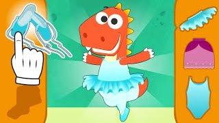 Aprende con Eddie a vestirte de bailarin de Ballet 🙆 Eddie el dinosaurio va a clase de baile