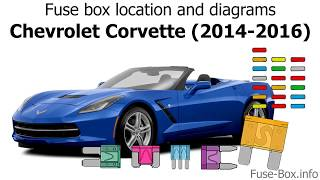 Fuse box location and diagrams: Chevrolet Corvette (2014-2016)